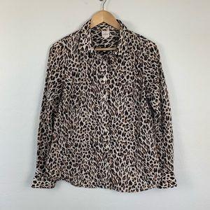 J.Crew perfect shirt leopard button up medium